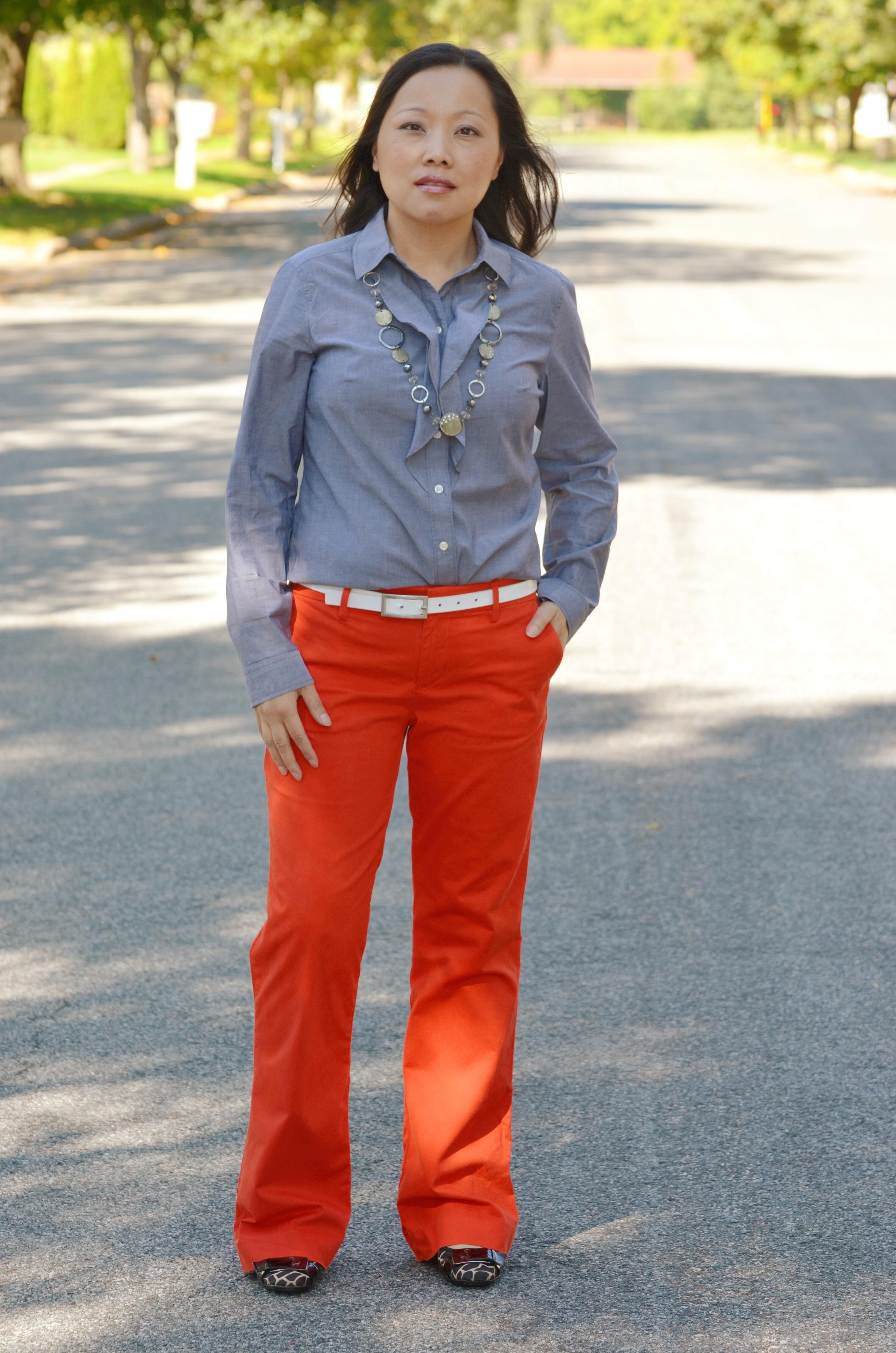 Review: Gap Perfect Khaki Pants | Straight Petite